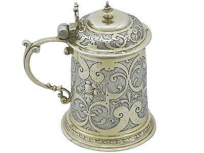 Antique German Silver Tankard 1610s