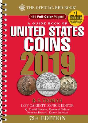 ***PRESALE*** The Official 2019 Red Book Guide to Coins - Spiral Bound 72nd ed.