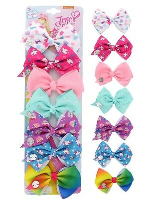 JoJo Siwa *Series 2* Signature 7 Pack Days of the Week Hair Bows NWT Spring
