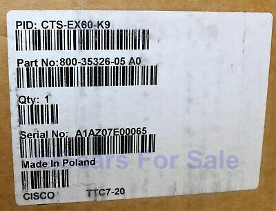 Cisco CTS-EX60-K9 Telepresence Video Conferencing System NEW SEALED BOX