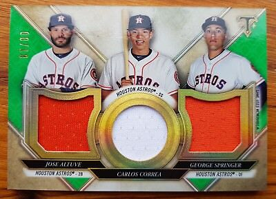 Topps 2017 Triple Threads Baseball - Altuve Correa Springer Emerald Relic Combo