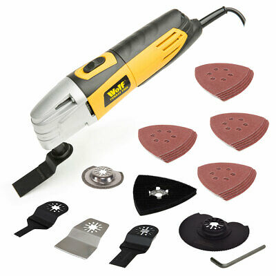 Wolf Combat 260w Oscillating Multi Tool with 27 Accessories 230v Corded