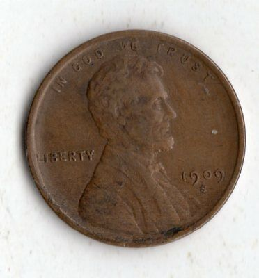 1909 S Lincoln Wheat Penny