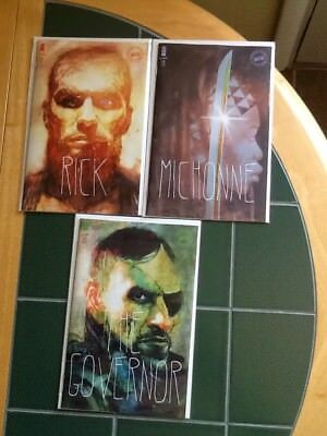 Three (3) The Walking Dead Image Variant Cover Comics Issues 175,176,177