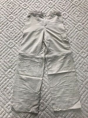 Youth Columbia Hiking Pants With Zip Off Legs Size S (8)