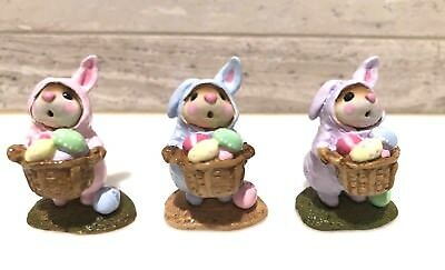 Wee Forest Folk Easter Bunny-Mouse Retired Three Colors M-82 1982-2003