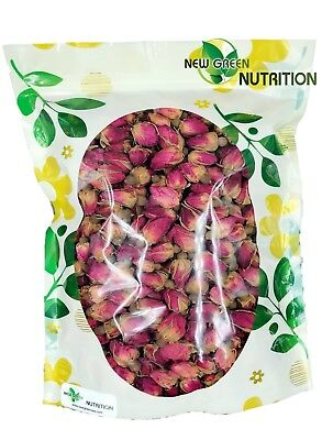 Yongwell 100% Natura Dried Red Rose Buds, Food Grade Herbal Tea (8oz) US Seller