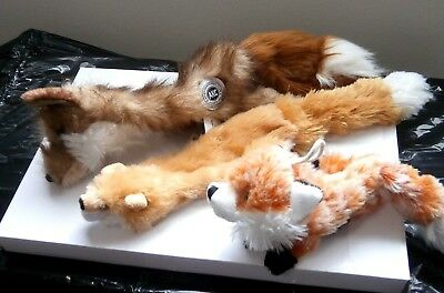 3 Dog Toys~~~FOXES~~~FOX~~~UNstuffed New/out Tags (1) is AKC