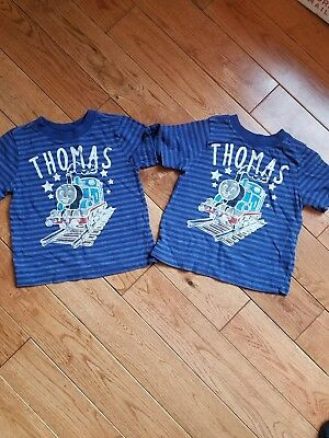 Old Navy Toddler Thomas Train Tshirts- Lot of 2, Twin Boys!, 12-18 months, Used