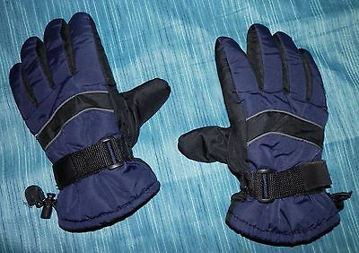THINSULATE ~ Youth L / 13 ~ BLACK & NAVY GLOVES ~ Insulation / 40 Gram ~ EUC