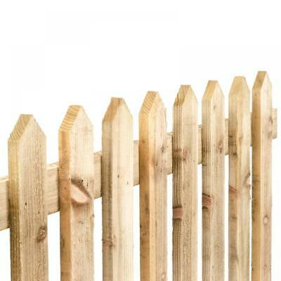 Picket Fence Panel, Traditional, Pressure Treated 6'x3' Pointed Top
