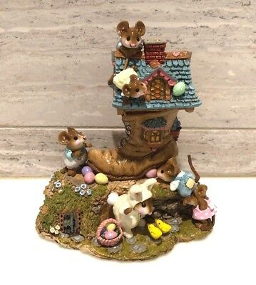 Wee Forest Folk Easter Egg Scramble Limited Edition w/6 Mice Retired 2006 M189a