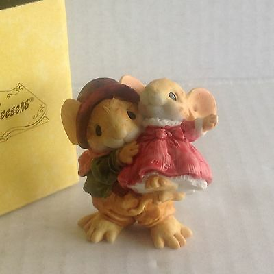 "Ganz Little Cheesers ""Grandpapa & Sweet Cicelyl"" figurine 1991 NIB"