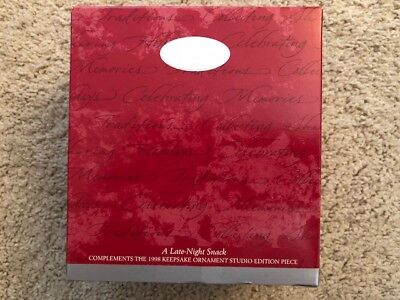 1998 A Late-Night Snack Hallmark Ornament Collectors Club MIB