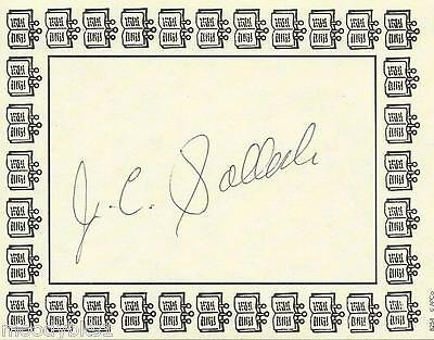J.C. POLLOCK, author, AUTHENTIC HAND SIGNED BOOKPLATE