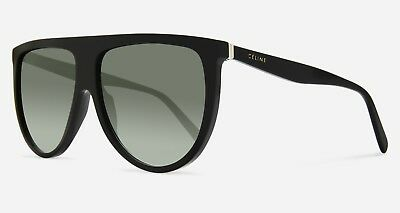 Celine CL 41435 807 Thin Shadow Black w/ Olive Gradient Lenses Sunglasses (NEW)