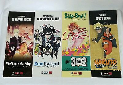 Anime Poster Lot Blue Exorcist, Earl & Fairy Skip Beat, Naruto, Bakuman 2 Sided
