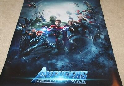 AVENGERS: INFINITY WAR - 27x40 Movie Poster NEW - One Sided Print - MINT