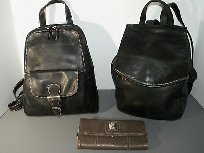 Tignanello Lot 2 Backpacks 1 Wallet