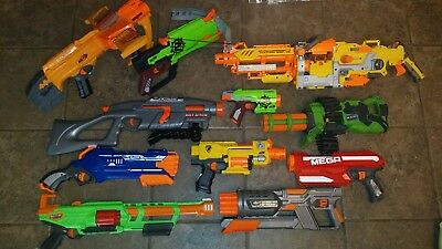 NERF DART GUN lot of 12 - Awesome Force, Dart Zone, Air Max 10, Range Master etc