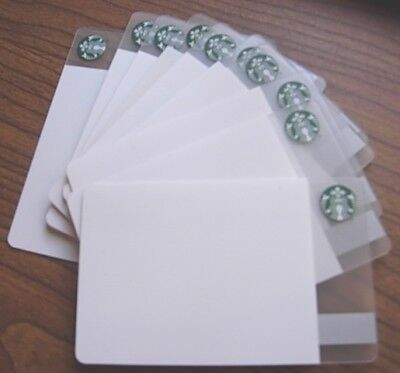 LOT 10 Starbucks CREATE YOUR OWN * BLANK WHITE Collectible Gift Card NO $0 Value
