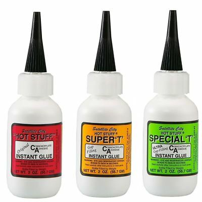Satellite City CA Glue Set of 3 - (1) Original Thin, (1) Super T Medium, (1) BL
