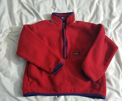 Patagonia Synchilla Fleece Red Jacket Kids Size Small