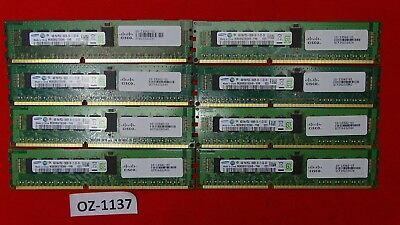 32GB 8x Genuine Cisco M393B5270DH0-YH9 4GB 1RX4 PC3L-10600R DDR3 15-13542-01