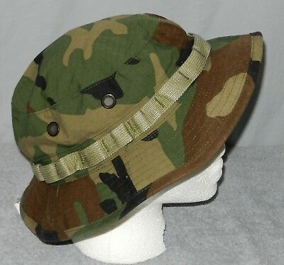 Unisex Hat Sun Hot Weather Woodland Camo US Army 7 3/4 Rip Stop Boonie
