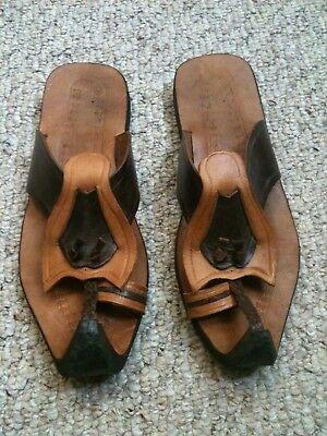 Renaissance Elf Sandals Leather Cosplay Pointy Toe Mens 9.5 10 Womens 11 12