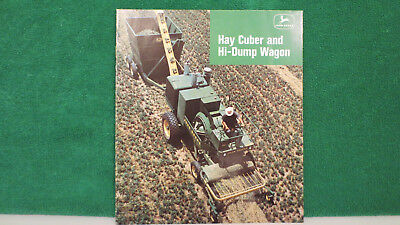 John Deere Tractor brochure on Hay Cuber and Hi- Dump Wagon from 1967, rare, VG