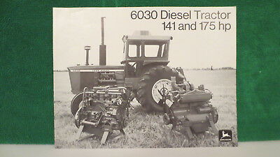 John Deere Tractor brochure on 6030 Diesel Tractor, 141 and 175 HP. from 1972 VG