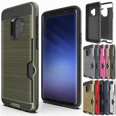 Shockproof Credit Card Holder Wallet Case For Samsung Galaxy S8 S9 Plus / Note 8