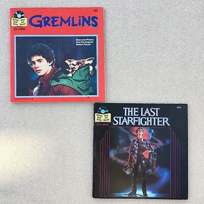 Gremlins & The Last Starfighter 33 & 1/2 Read-Along Book & Record #'s 466, 464