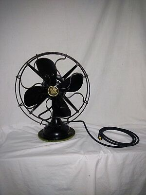 """Rare 1920's Robbins & Myers 12"""" blade 3 Speed Fan Working #5204"""