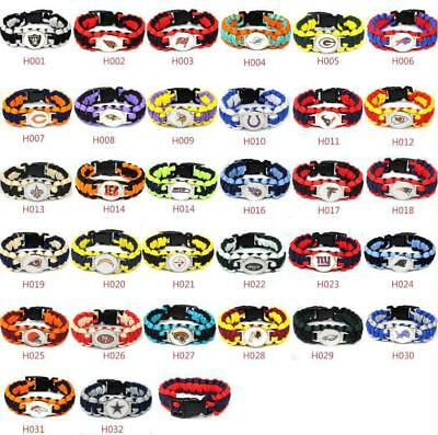Football NFL US Team Umbrella Rope Wristband  Bracelets Bracelet-Pick Team Gift