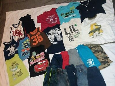 Huge 23 PIECE boys 3t summer clothes lot children's place old navy jumping beans