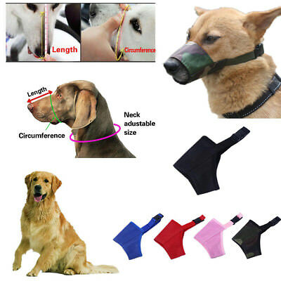 Pet Dog Mouth Cover Muzzle Adjustable Anti Bite Chew Barking Breathable XS-3XL