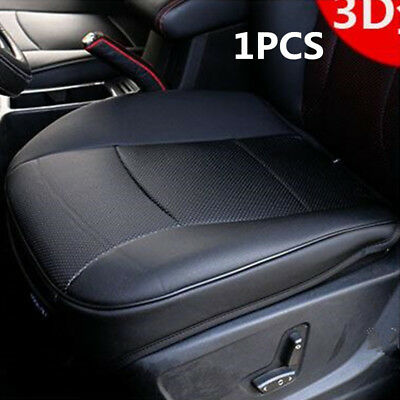 1Pcs Black Car Front Seat Cover PU Leather Seat Protector Cushion 3D Universal
