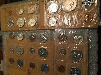 1960, 1961, 1962, 1963, and 1964 US Mint Uncirculated Proof Sets!  LOT OF 5