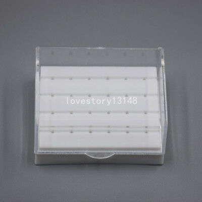 Dental Diamond High Speed Handpiece Burs Drill Holder Box Case Block 24 Holes