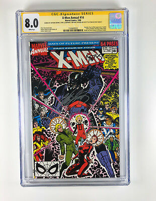 X-Men Annual 14 CGC 8.0 sign Adams Claremont Golden Stan Lee Gambit Cameo