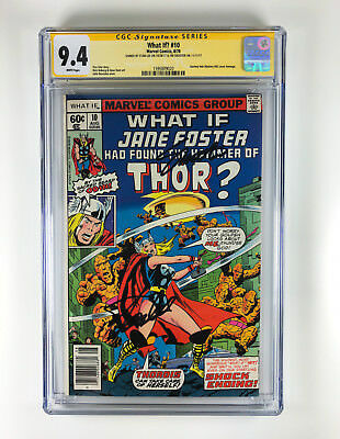 What If Jane Foster... 10 CGC 9.4 signed by Stan Lee & Jim Shooter Thor JIM 83
