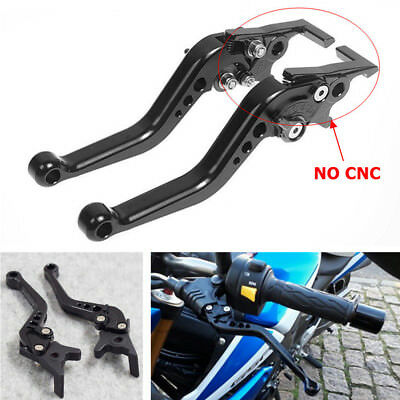 Pair Motorcycle Scooter E-bike Black M12 Front and Rear Double Disc Brake Lever