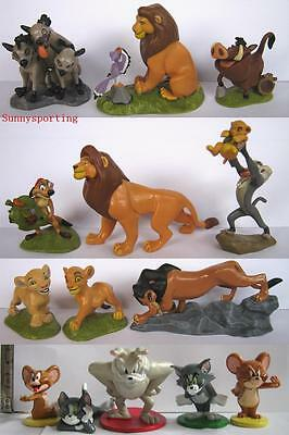 LOT OF 9 DISNEY THE LION KING Figures & LOT OF 5 TOM and JERRY SPIKE Figures