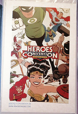 Darwyn Cooke DC NEW FRONTIER Heroes Con 11x17 original art poster not signed HOT