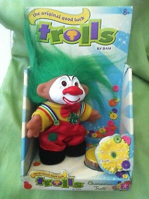 Vintage Troll Dam Clown W/ Pie New In Box Collectable