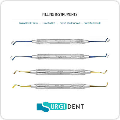 Filling Plastic Dental Composite Instrument Hand Titanium Tools Coating Set Of 4