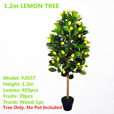Indoor Outdoor Decorative Artificial Lemon Tree Topiary 1.2m Plant #2657