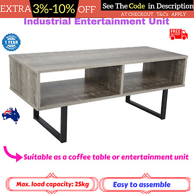 INDUSTRIAL ENTERTAINMENT TV Unit Coffee Table Television Stand